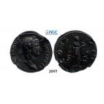 Lot: 2097. Roman Empire, Hadrian, 98-138 AD, As (Struck 128-132 AD) Rome, Bronze (13.55g), NGC AU