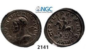 Lot: 2141. Roman Empire, Probus, 276-282 AD, Antoninianus (Struck 280 AD) Cyzicus, Billon (3.66g), NGC AU