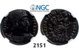 Lot: 2151. Roman Empire, Constantine I, 307-337 AD, Æ3 (Nummus) (Struck 329 AD) Constantinople, Billon (3.27g), NGC Ch XF