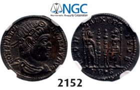 Lot: 2152. Roman Empire, Constantine I, 307-­337 AD, Æ3 (Nummus) (Struck 332-­333 AD) Trier, Billon (2.34g), NGC MS