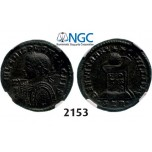 Lot: 2153. Roman Empire, Crispus, 316­-326, Æ3 (Nummus) (Struck 322 AD) Trier, Billon (2.77g), NGC Ch XF