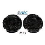 Lot: 2155. Roman Empire, Helena. Augusta, 324-328/30 g, Æ3 (Nummus) (Struck 326-328) Thessalonica, Billon (1.86g), NGC MS