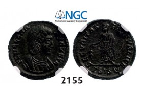 Lot: 2155. Roman Empire, Helena. Augusta, 324-­328/30 g, Æ3 (Nummus) (Struck 326-­328) Thessalonica, Billon (1.86g), NGC MS
