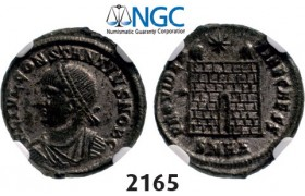 Lot: 2165. Roman Empire, Constantine II as Caesar, 337-361 AD, Æ3 (Nummus) (Struck 338-339 AD) Heraclea, Billon (3.09g), NGC AU