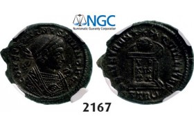Lot: 2167. Roman Empire, Constantine II as Caesar, 337-­361 AD, Æ3 (Nummus) (Struck 338-­339 AD) Trier, Billon (3.45g), NGC AU