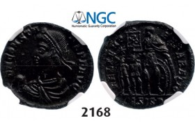 Lot: 2168. Roman Empire, Constans, 337-350, Centenionalis (Struck 348-350 AD) Siscia, Billon (3.55g), NGC MS