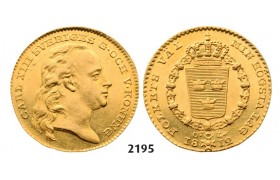 Lot: 2195. Sweden, Karl XIII, 1809­-1818, Dukat 1812-­O/L, Stockholm, GOLD