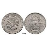 Lot: 2211. Sweden, Patterns & Trial strikes, Gustav VI Adolf, 1950-1973, Pattern 1 Krona 1967-U, Stockholm, Copper-Nickel