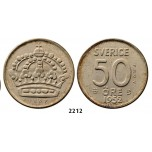 Lot: 2212. Sweden, Patterns & Trial strikes, Gustav VI Adolf, 1950-1973, Pattern 50 Öre 1952-TS, Stockholm, Silver