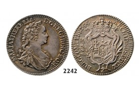 Lot: 2242. Austria, Maria Theresia, 1740­-1780, ¼ Taler 1744, Hall, Silver