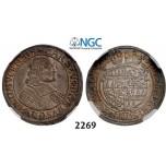 Lot: 2269. Austria, Olmutz, Karl II von LiechtensteinCastelcorn, 1664-1695, 6 Kreuzer 1675, Silver, NGC MS63