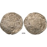 Lot: 2276. Belgium, Flandern, Philip IV. Of Spain, 1621-­1665, Patagon 1642, Bruges, Silver