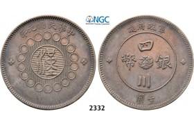Lot: 2332. China, Szechuan Province, Yuan (Dollar) Year 1 (1912) Chengdu, Silver, NGC AU