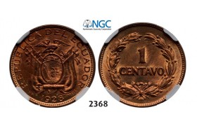 Lot: 2368. Ecuador, Centavo 1928, Bronze