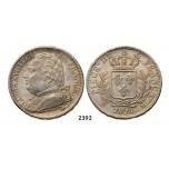 Lot: 2392. France, Louis XVIII, 1814-1815/1815-1824, 5 Francs 1814-M, Toulouse, Silver