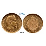 Lot: 2409. France, Napoleon III, 1852-1870, 20 Francs 1862-A, Paris, GOLD, NGC MS61
