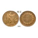 Lot: 2422. France, Third Republic, 1871-1940, 50 Francs 1887-A, Paris, GOLD , PCGS AU55