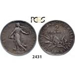 Lot: 2431. France, Third Republic, 1871-1940, 2 Francs 1898, Paris, Silver , PCGS PR62