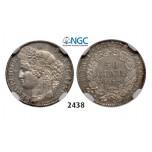 Lot: 2438. France, Third Republic, 1871-1940, 50 Centimes 1872-A, Paris, Silver, NGC MS62