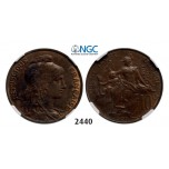 Lot: 2440. France, Third Republic, 1871-­1940, 10 Centimes 1900, Bronze, NGC MS62BN