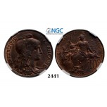 Lot: 2441. France, Third Republic, 1871-1940, 10 Centimes 1903, Bronze, NGC MS64RB