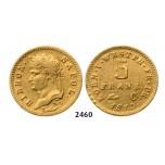 Lot: 2460. Germany, Westphalia, Hieronymus Napoleon, 1807-1813, 5 Francs 1813-C, Kassel, GOLD
