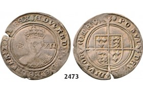 Lot: 2473. Great Britain, Edward VI, 1547-­1553 , Shilling, No date (Struck 1551-­1553) London, Silver