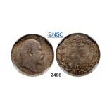 Lot: 2488. Great Britain, Edward VII, 1901-1910, 6 Pence 1909, London, Silver, NGC MS64