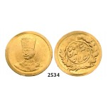 Lot: 2534. Iran, Nasir al Din Shah, AH1264-1313 (1848-1896 AD), 2000 Dinars (1/5 Toman) AH1301 (1884) Tehran, GOLD