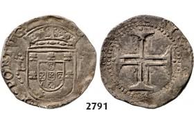 Lot: 2791. Portugal, Philip II, 1598-1621, Tostao (100 Reis) No Date, Lisbon, Silver