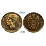 Lot: 2848. Romania, Carol II, 1930-1940, 10 Lei 1930-H, Heaton, Birmingham, Nickel-Brass, NGC PF65