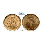 Lot: 2931. Russia, For Finland, 10 Markaa 1881-S, Helsingfors, GOLD, NGC MS64