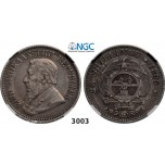 Lot: 3003. South Africa, Zuid­-Afrikaansche Republiek (ZAR), 2 ­1/2 Shillings 1895, Silver, NGC VF35