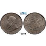 Lot: 3004. South Africa, Zuid-Afrikaansche Republiek (ZAR), 2 1/2 Shillings 1897, Silver, NGC AU58