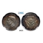 Lot: 3023. South Africa, Union of South Africa, George VI, 1936-1952, 3 Pence 1944, Pretoria, Silver, NGC PF64