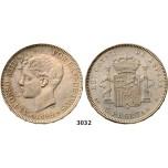 Lot: 3032. Spain, Alfonso XIII, 1886-1931, 5 Pesetas 1899 (99) SGV, Valencia, Silver
