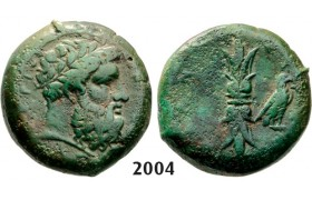 05.05.2013, Auction 2/ 2004. Ancient Greek, Syracuse, Hemilitron (Struck 344-­336 BC) Bronze (13.01g)