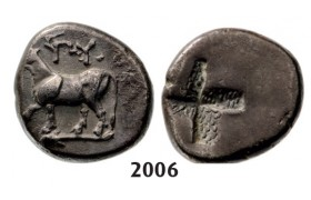 05.05.2013, Auction 2/ 2006. Ancient Greek,Thrace, Byzantion, Half­-Siglos, Silver (2.43g)