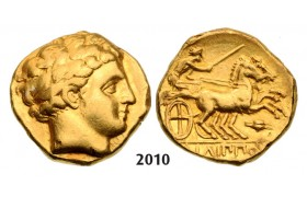 05.05.2013, Auction 2/ 2010. Ancient Greek, Macedonia – Macedonian Kingdom, Philip II, 359-­336 BC, Stater (Struck 336­328 BC) Amphipolis, GOLD (8.55g)