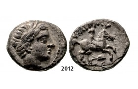 05.05.2013, Auction 2/ 2012. Ancient Greek, Macedonia – Macedonian Kingdom, Fifth-­Stater, Amphipolis (Struck 323-­315 BC) Silver (2.52g)