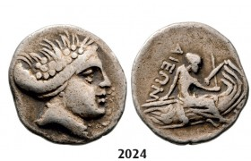 05.05.2013, Auction 2/  2024. Ancient Greek, Euboia, Histiaia Tetrobol (Struck 369­-346) Silver (1.76g)