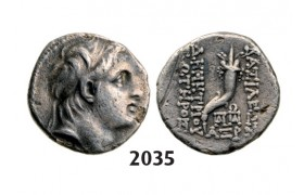 05.05.2013, Auction 2/ 2035. Ancient Greek, Ionia, Demetrios I, 162-­150 BC, Drachm (Struck 153­-152 BC) Antioch, Silver (3.95g)
