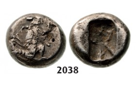 05.05.2013, Auction 2/ 2038. Ancient Greek, Persia, Achaemedin Kingdom, Xerxes II, 420-­375 BC , Quarter Siglos, Silver (1.24g)