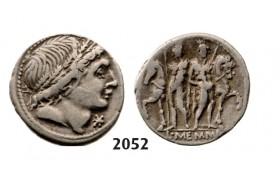 05.05.2013, Auction 2/ 2052. Roman Republic, L. Memmius (109-108 BC) Denarius, Rome, Silver (3.77g)