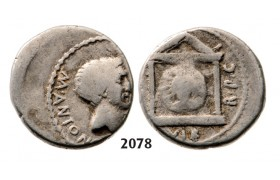 05.05.2013, Auction 2/ 2078. Roman Republic, M. Antonius (42 BC) Denarius, Moving Mint, Silver (4.05g)