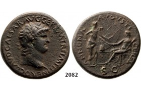 05.05.2013, Auction 2/ 2082. Roman Empire, Nero, 54-­68 AD, Æ Sestertius (Struck 64 AD) Rome, Bronze (24.08g)