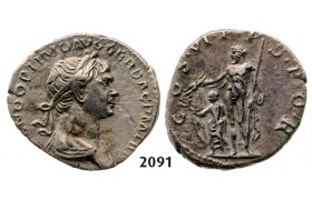 05.05.2013, Auction 2/2091. Roman Empire, Trajan, 103-­111 AD, Denarius (Struck 114-­117 AD) Rome, Silver (3.27g)