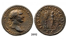05.05.2013, Auction 2/2092. Roman Empire, Trajan, 103-­111 AD, Æ Sestertius (Struck 106-­107 AD) Rome, Bronze (25.69g)