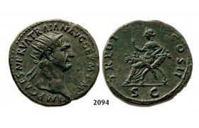 05.05.2013, Auction 2/2094. Roman Empire, Trajan, 103-­111 AD, Æ Dupondius (Struck 99-­100 AD) Rome, Bronze (13.48g)