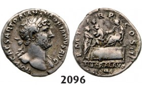 05.05.2013, Auction 2/2096. Roman Empire, Hadrian, 98-­138 AD, Denarius (Struck 118­-120 AD) Rome, Silver (2.62g)